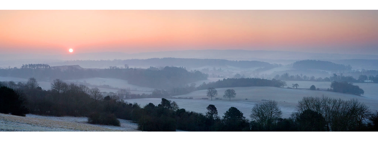 Newlands Corner Frosty Sunrise